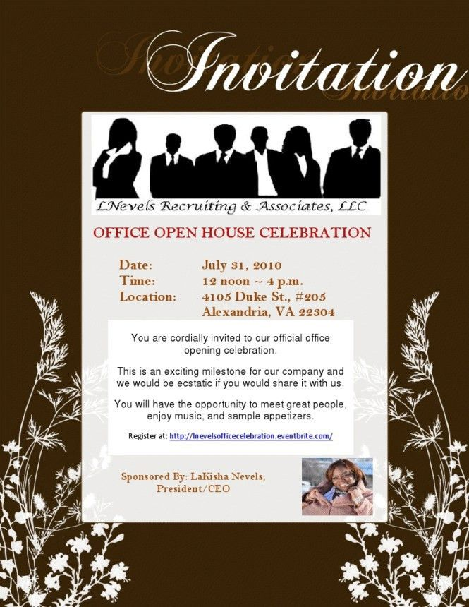 Card Invitation Ideas. how to write office presidential ...