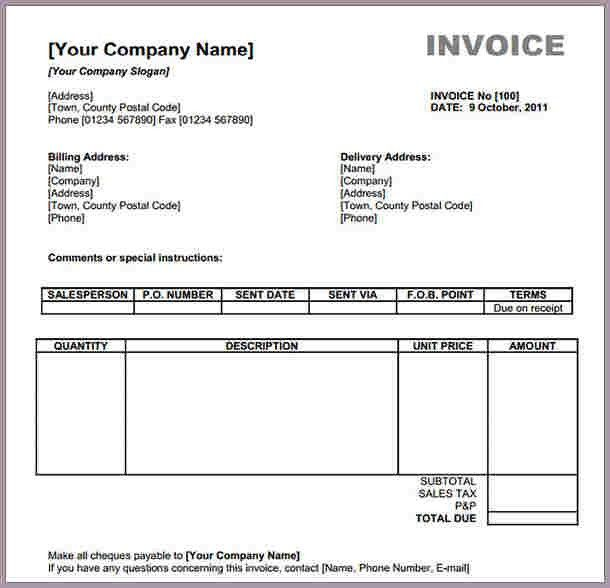 Generic Invoice. Generic Invoice 21+ Invoice Examples In Word ...
