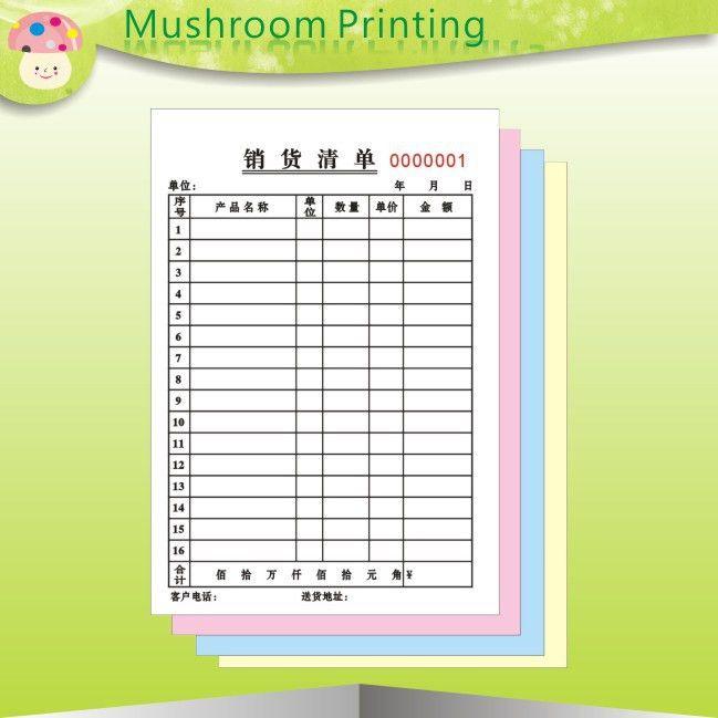 Aliexpress.com : Buy Custom carbonless printed paper receipt book ...