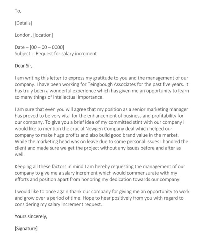 How To Write A Pay Rise Request Letter | Mytemplate.co