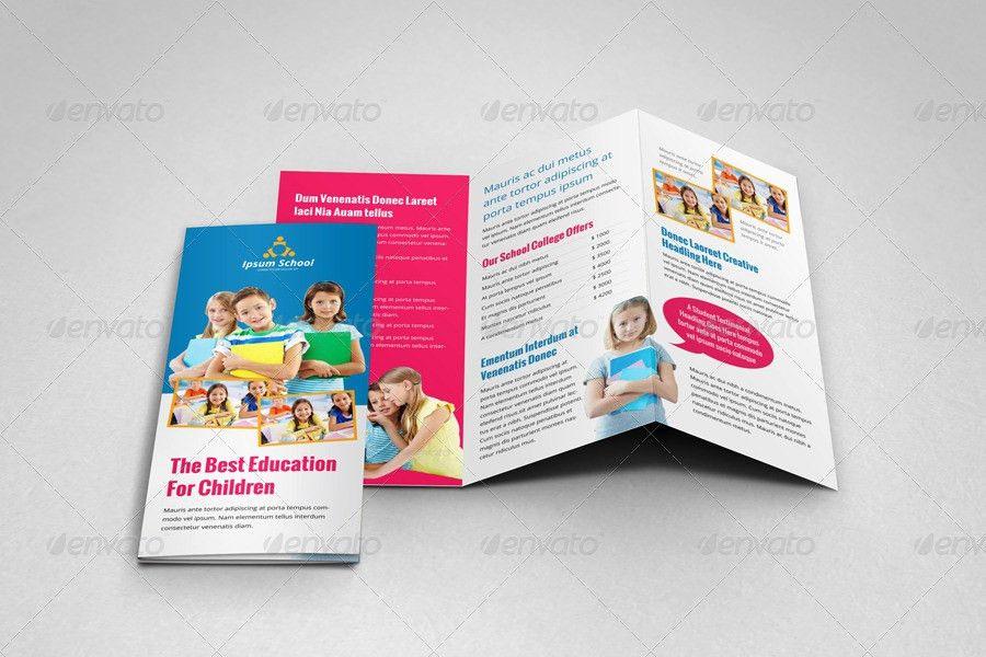 Education School Trifold Brochure Template v2 by JanySultana ...