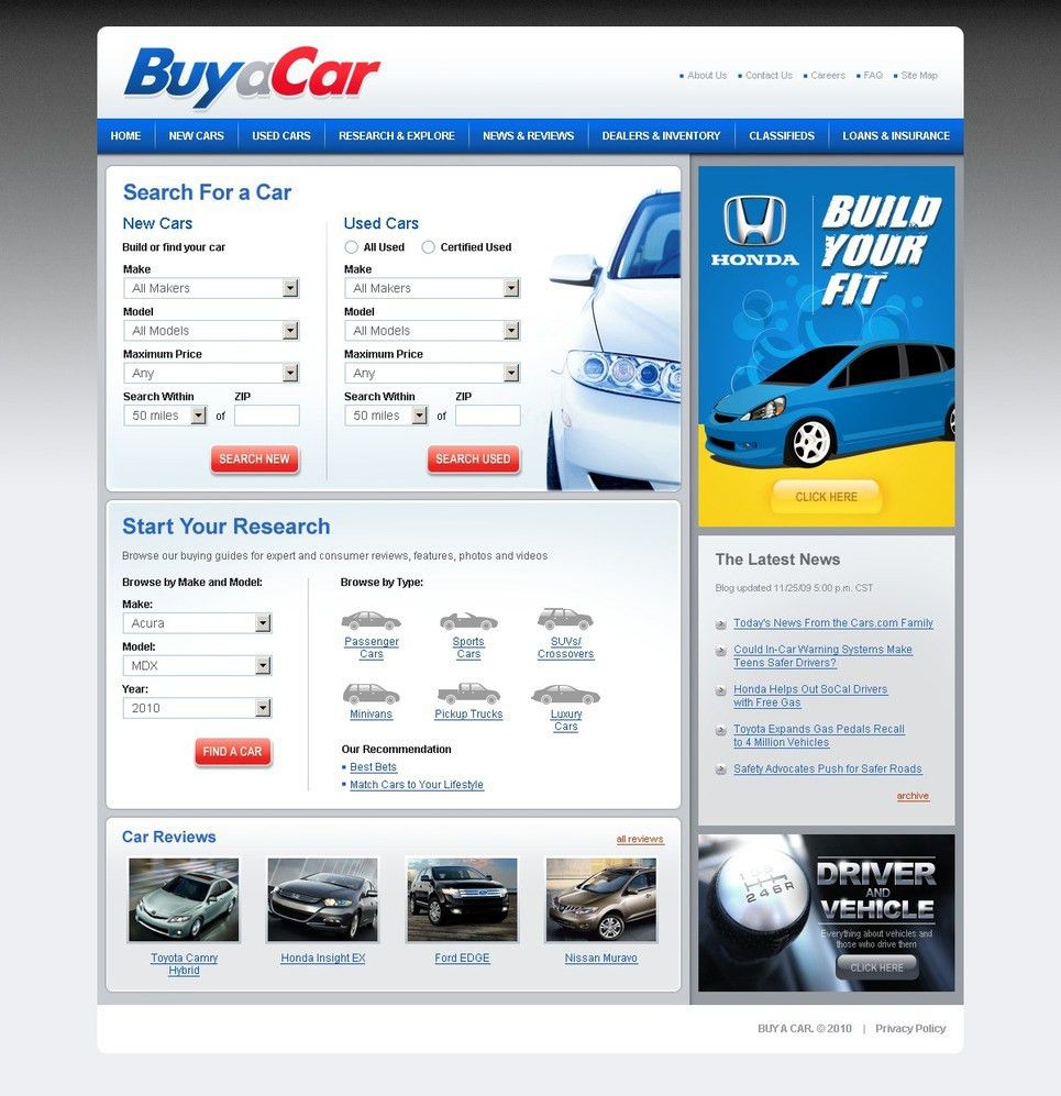 Car Dealer Website Template #27293