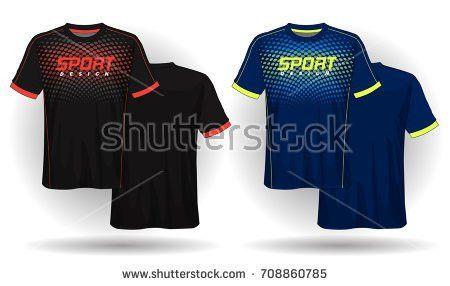 Soccer Jersey Template Mock Football Uniform Stock Vector ...