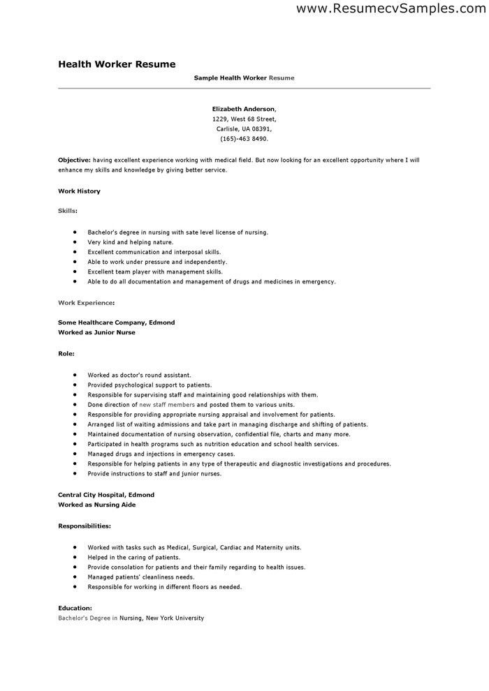 mental health worker resume mental health resume sample career ...