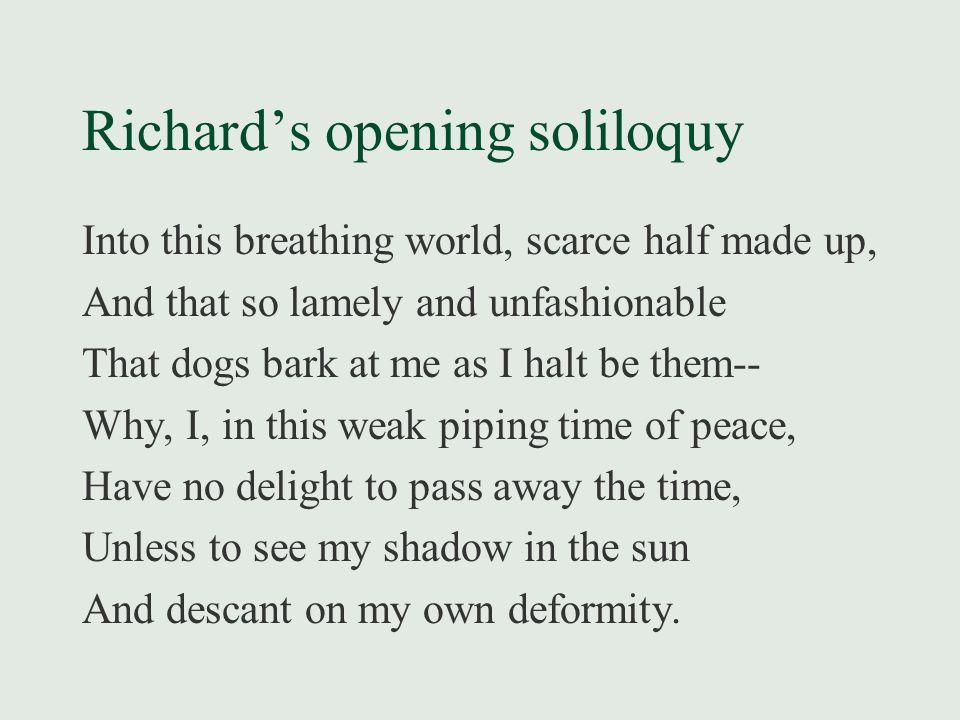 Richard's opening soliloquy - SliderBase