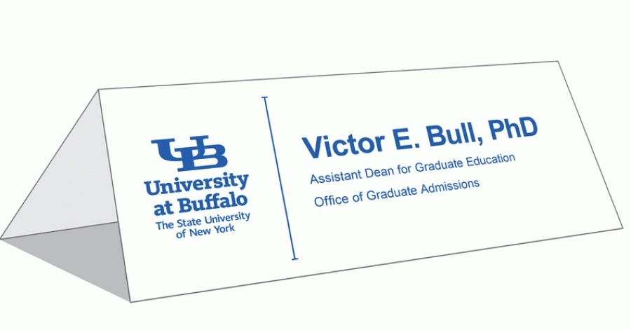 Table Tent Cards - Identity and Brand - University at Buffalo