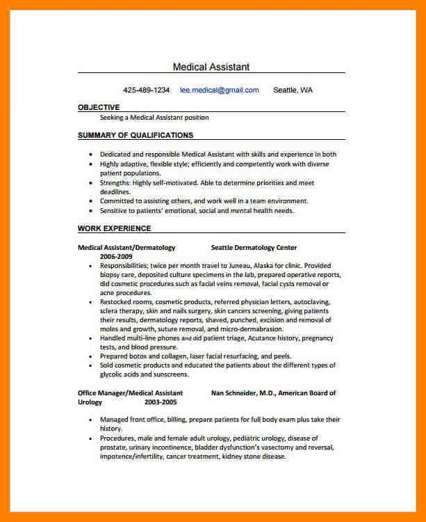8+ medical assistant sample resume | packaging clerks
