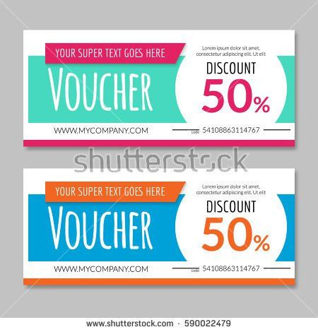 Discount Voucher Certificate Gift Card Design Stock Vector ...