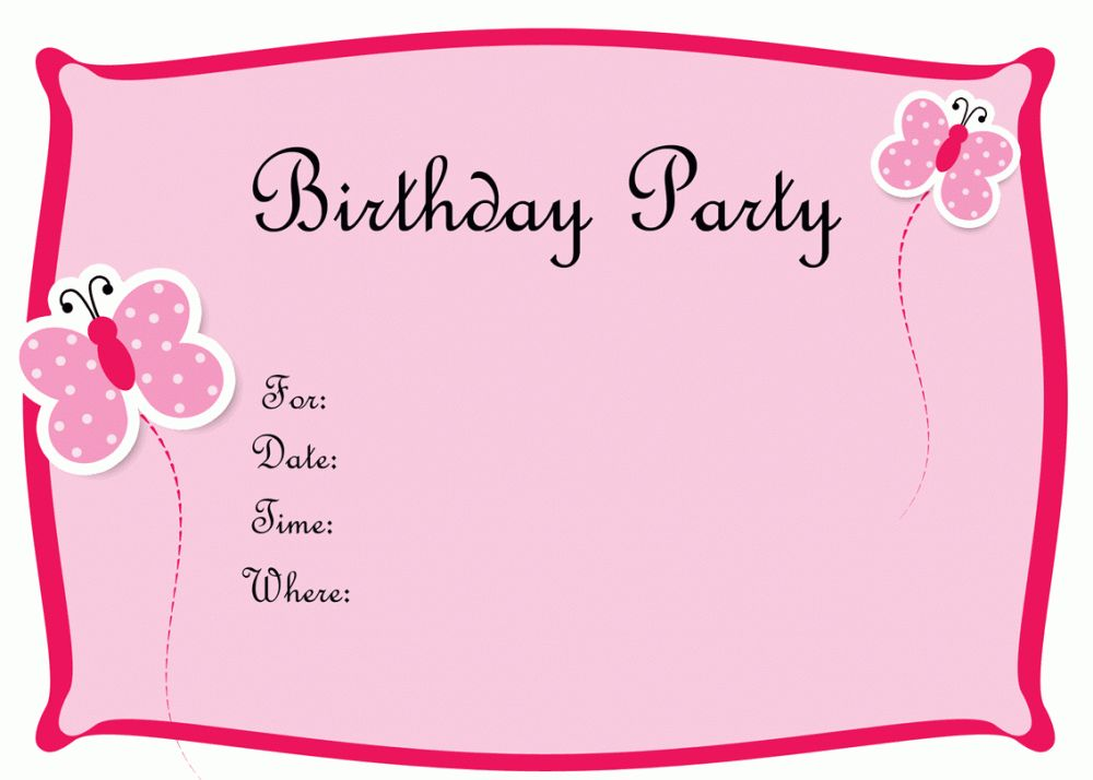 Outstanding Free Birthday Invitation Cards Templates 14 For Your ...