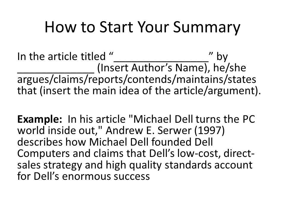 Academic Summary Writing - ppt video online download