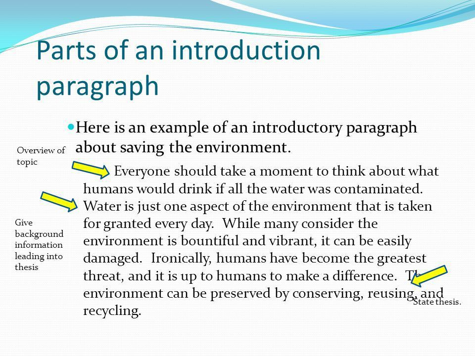 Introduction Paragraph - ppt video online download