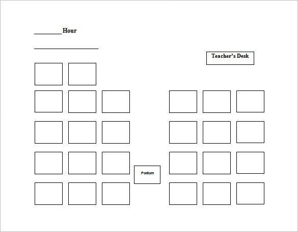 Seating Chart Template | Free & Premium Templates