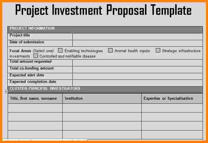 investor proposal template