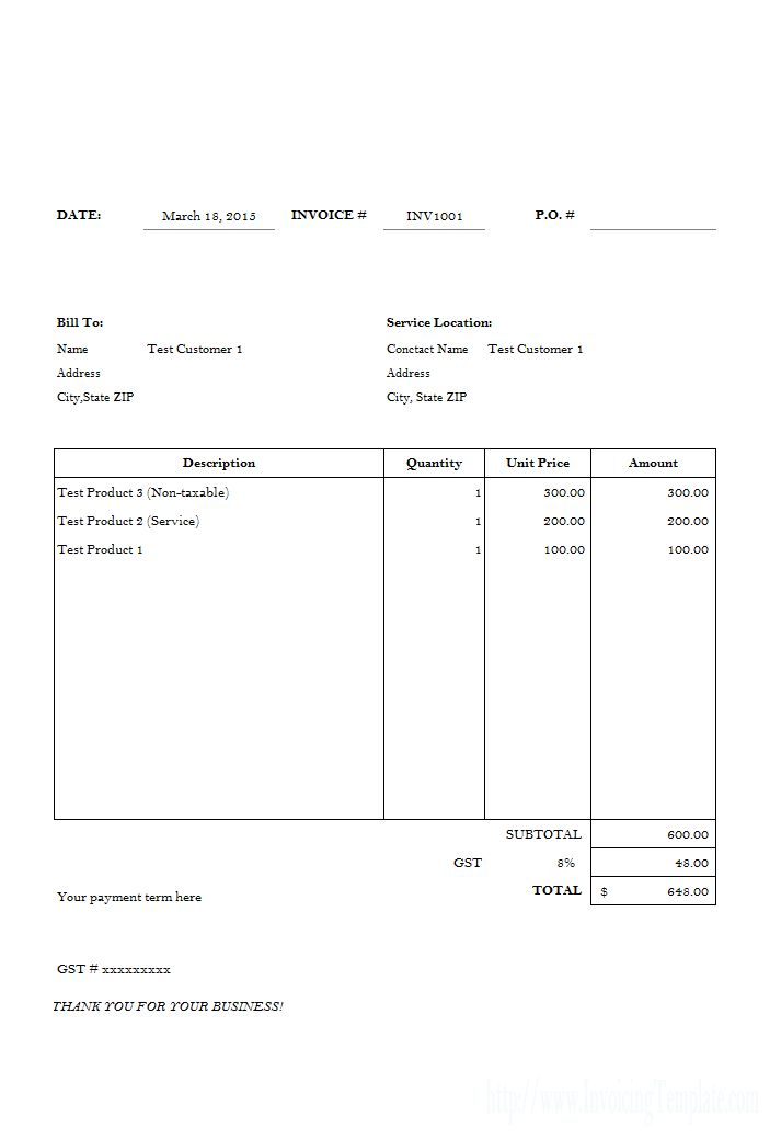Labor Invoicing Sample