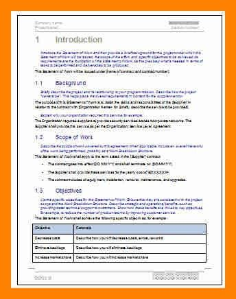 7+ scope of service example | resumes great