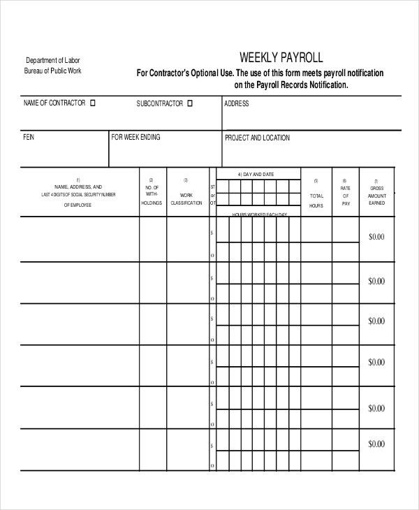 Payroll Report Template. Free Payroll Templates Download Free ...