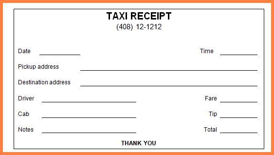 4+ taxi bill format in word | Letter Bills