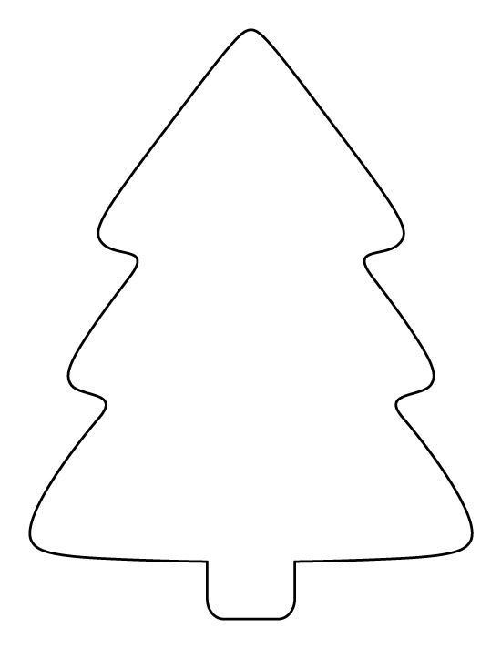 Phone Tree Template. Printable Simple Christmas Tree Pattern Use ...