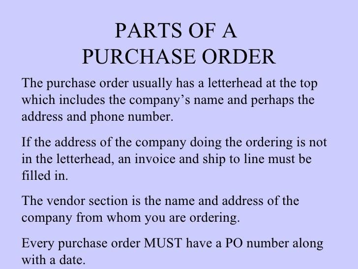 Purchase order & invoices