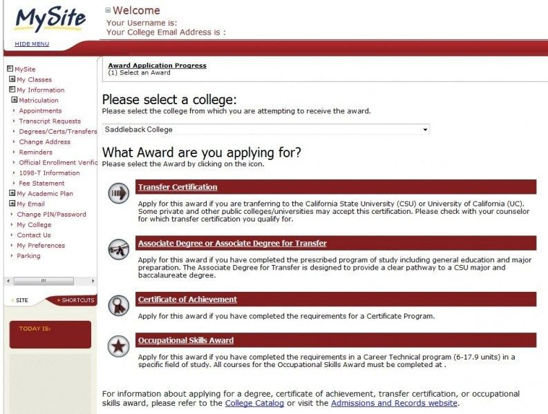 Apply for a Degree, Certificate, or Occupational Skills Award ...
