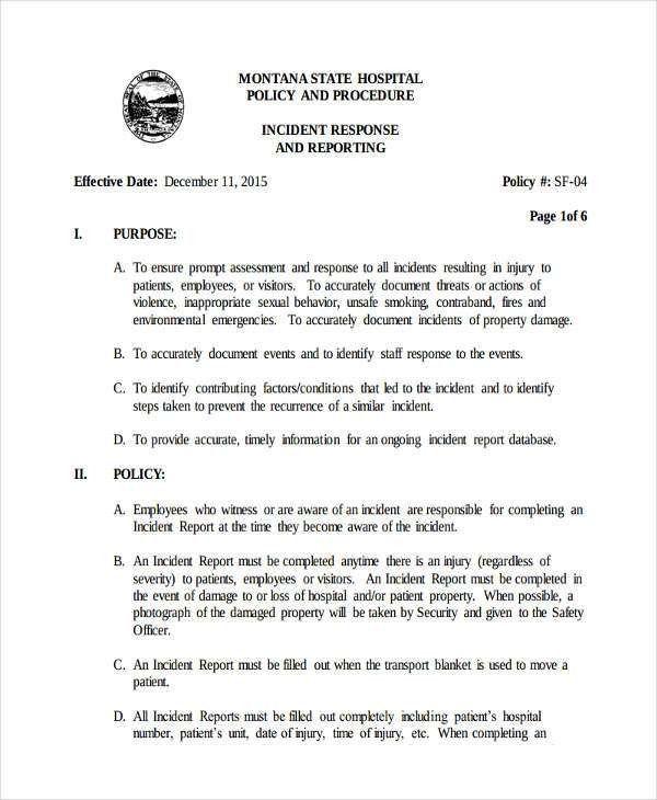 Medical Incident Report Form [Nfgaccountability.com ]