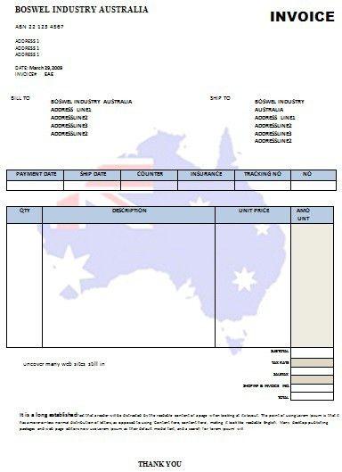 australian invoice template