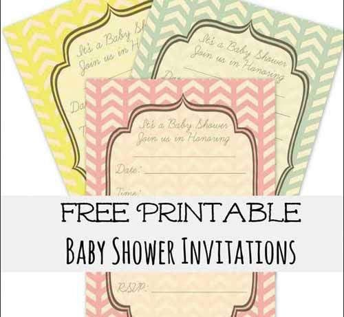 Shower Invitation Cards: 35 Sets of Printable Templates to Download