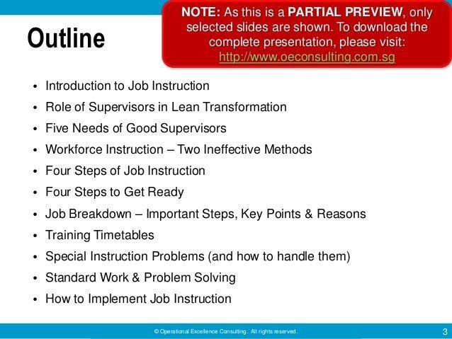 Training Within Industry (TWI): Job Instruction Program by Operationa…