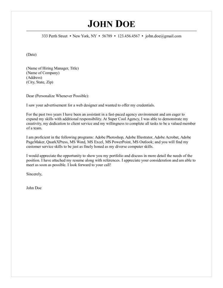 Web Designer Cover Letter 15 PHP Web Developer Cover Letter Sample ...