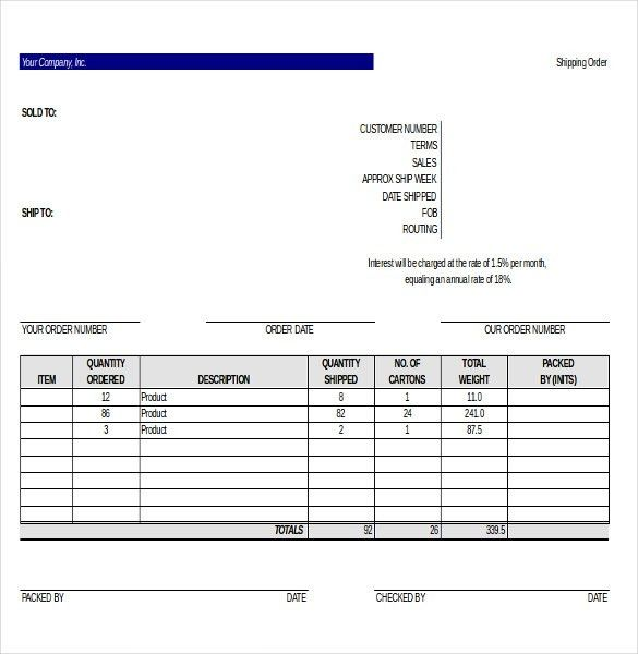 Delivery Order Template – 12+ Free Excel, PDF, Documents Download ...
