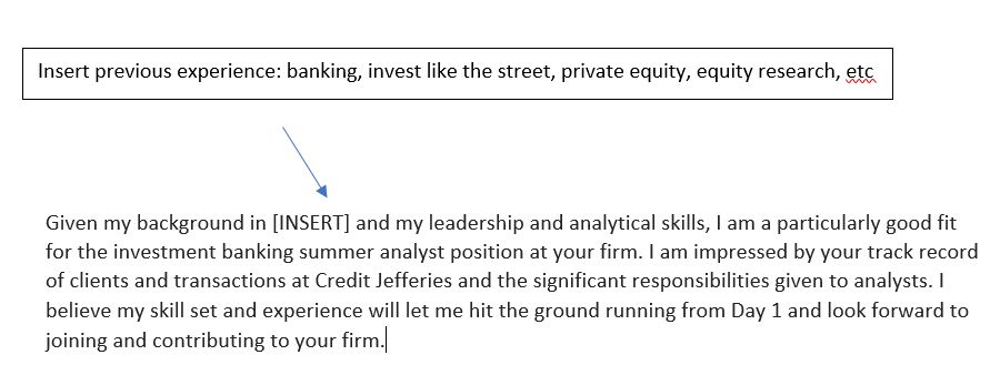 Investment Banking Cover Letter Template: What You're Doing Wrong