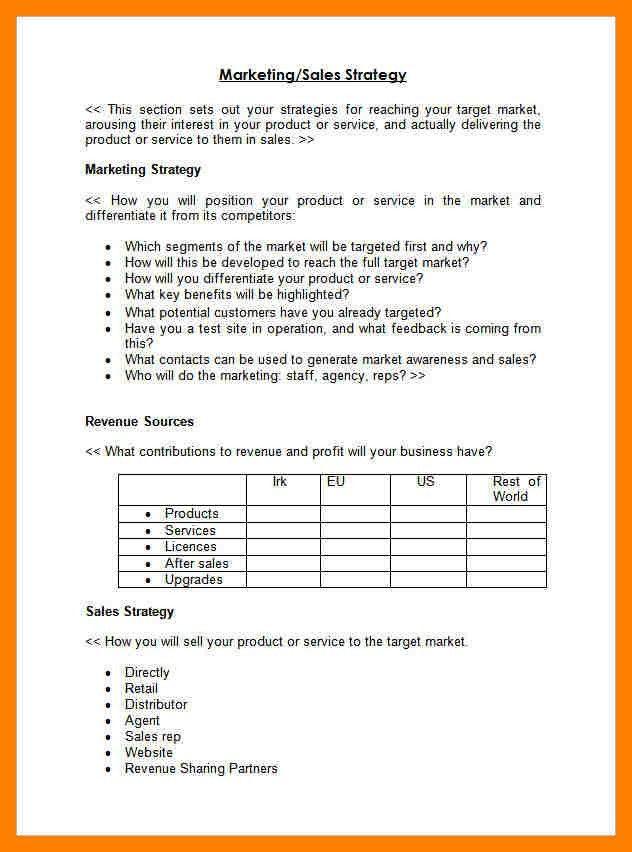 6+ sales plan outline | producer resume