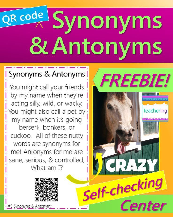 46 best Synonyms/antonyms images on Pinterest | Teaching ideas ...
