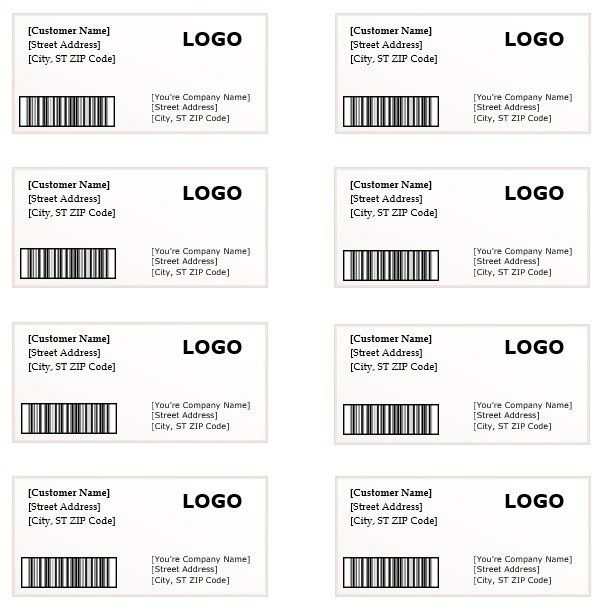 Shipping Label Template – Microsoft Word Templates