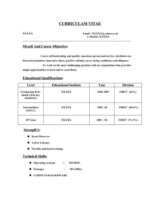 Fresher resume-sample9 by Babasab Patil