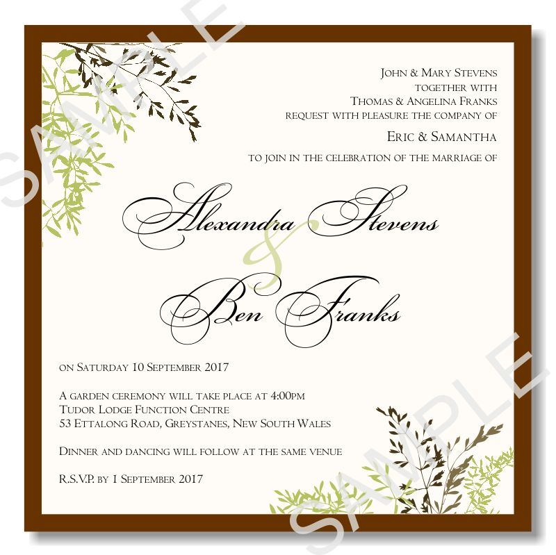 Wedding Invite Template | THERUNTIME.COM