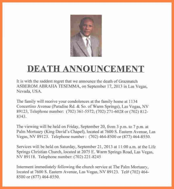 Funeral Announcement Template Free, funeral program design #82 ...