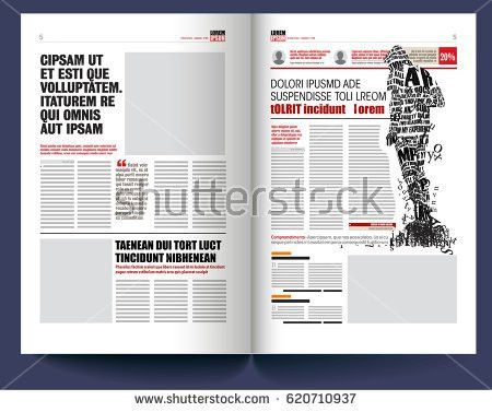 Newspaper Template Stock Images, Royalty-Free Images & Vectors ...