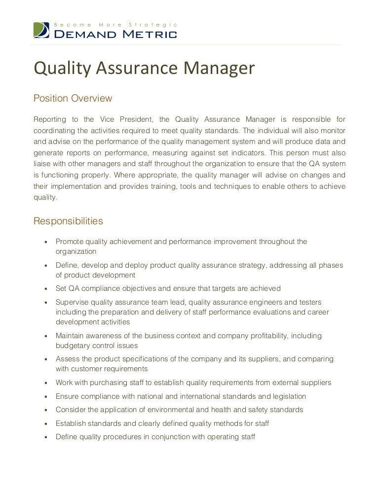 Quality Engineer Job Description. Software Engineering Manager Job ...