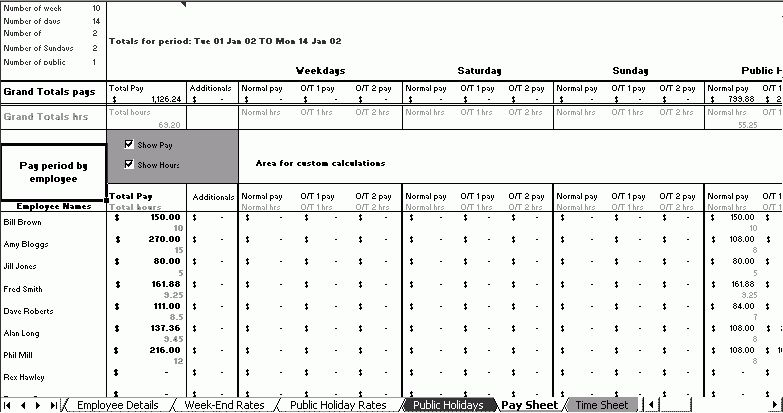 Time & Wage Template. Excel Based Time & Wage Template