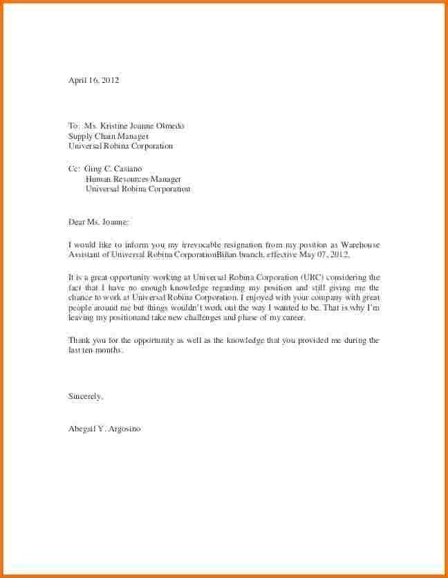 Letter Of Resignation Samples 2016 | jennywashere.com