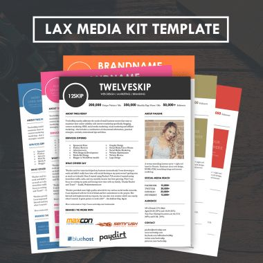 Blogger Media Kit + Press Kit Template - HIPMediaKits