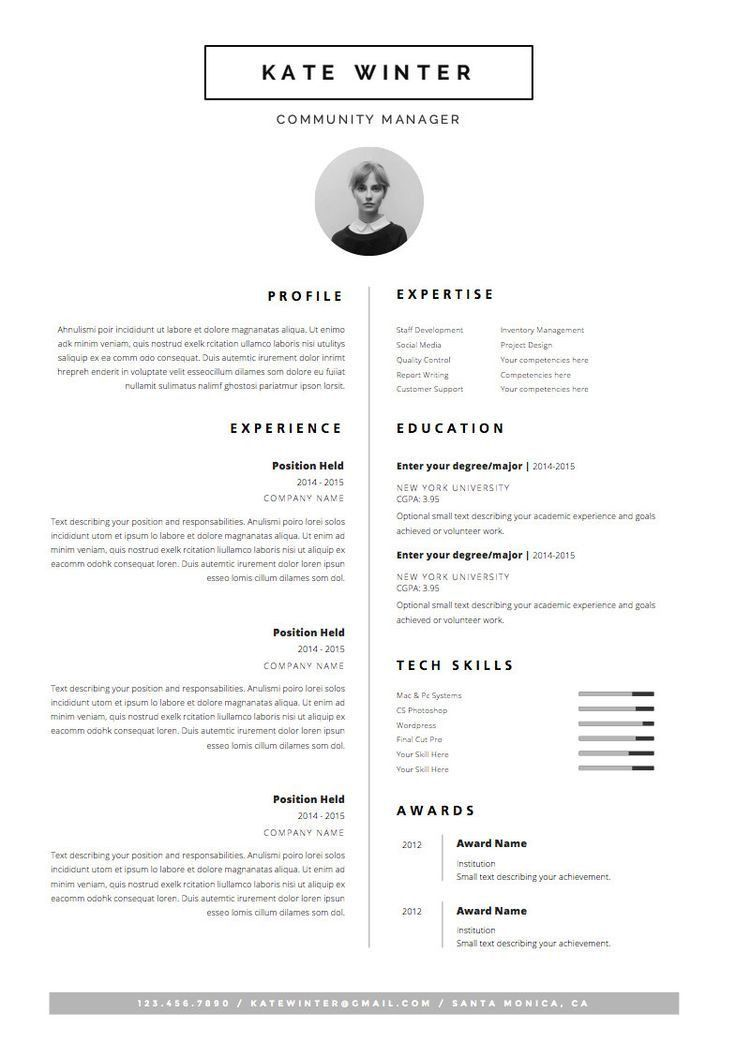 Best 25+ Template for resume ideas on Pinterest | Cv template ...