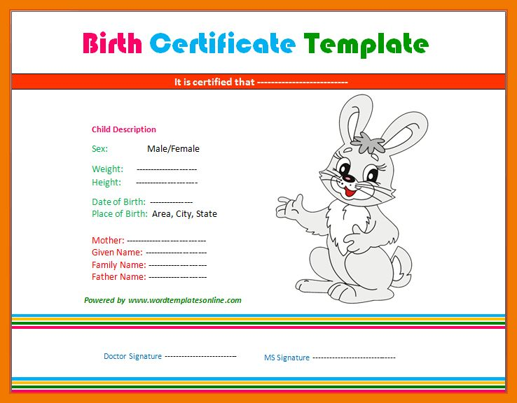 6+ birth certificate template for microsoft word | mailroom clerk
