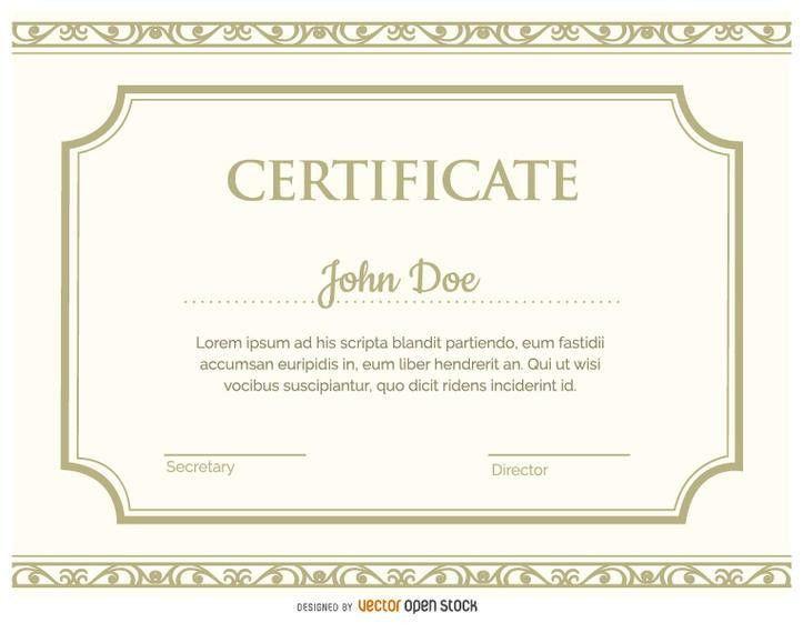 Certificate template - Vector download