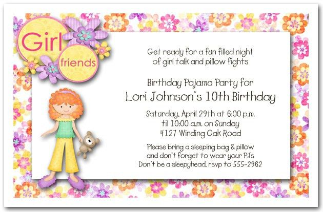 Slumber Party Invitation Wording | badbrya.com