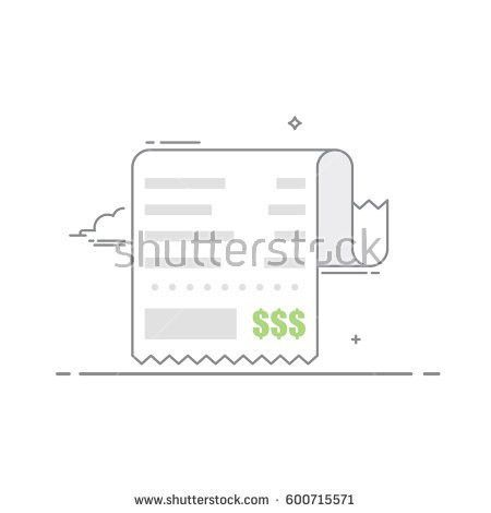 Receipt Shopping List Value Goods Financial Stock Vector 481630252 ...