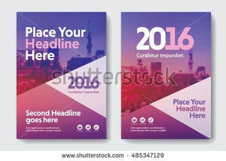 Bright Color City Background Business Book Stock Vector 485552590 ...