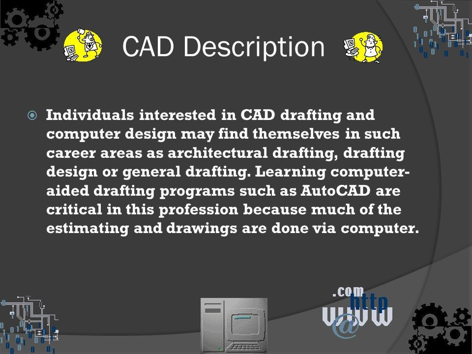 CAD Designer /Drafter (Computer Aided Design) Ryan Genek. - ppt ...