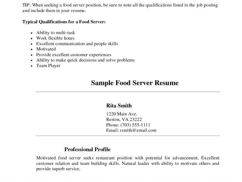 Server Resume Sample - CV Resume Ideas